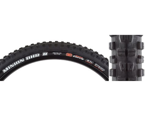 "Maxxis Minion DHR II Tubeless Mountain Tire (Black) (2.4"") (26"" / 559 ISO)"