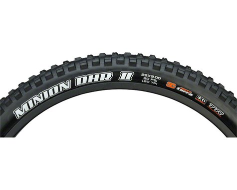 "Maxxis Minion DHR II Plus Tubeless Mountain Tire (Black) (3.0"") (29"" / 622 ISO)"