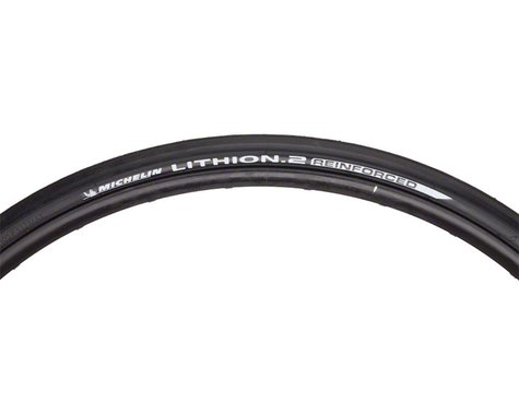 Michelin Lithion 2 Reinforced Road Tire (Black) (23mm) (700c / 622 ISO)