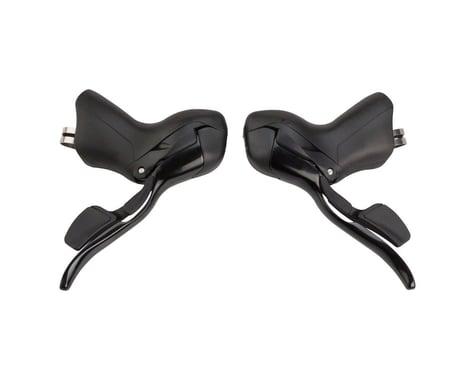 Microshift R7 Drop Bar Shifter Set (Black) (Pair) (3 x 7 Speed)