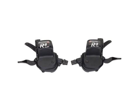 Microshift R8 Flat Bar Road Trigger Shifters (Black) (Pair) (2/3 x 8 Speed)