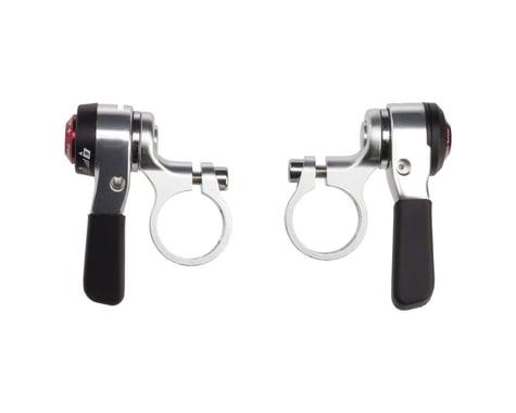 Microshift Thumb Shifters (Silver) (Pair) (2/3 x 9 Speed)