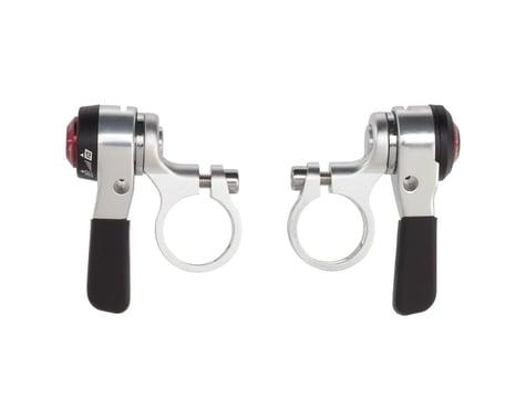 Microshift Road Thumb Shifters (Silver) (Pair) (2/3 x 10 Speed)