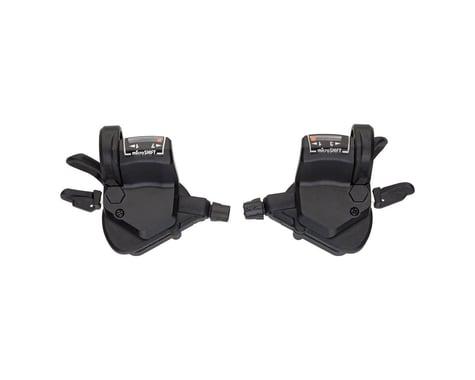 Microshift Mezzo TS39 Thumb-Tap Trigger Shifters (Black) (Pair) (3 x 7 Speed)
