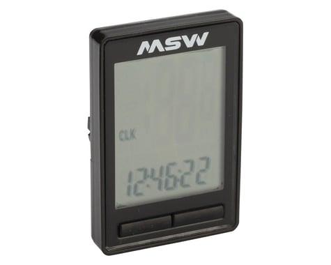 MSW Miniac Wireless Bike Computer - Wireless, Black