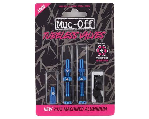 Muc-Off V2 Tubeless Presta Valves (Blue) (Pair) (44mm)