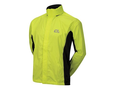 O2 Rainwear Primary Rain Jacket w/ Hood (Hi-Viz Yellow) (M)