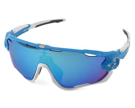 Oakley Jawbreaker Sunglasses (Sky Blue/White) (Sapphire Iridium)