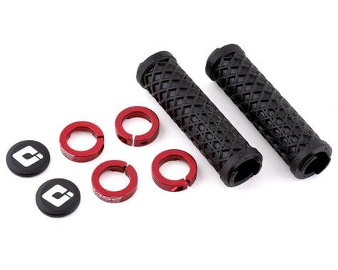 ODI Vans Flangless Lock-On Grips (Black/Red) (130mm) (Pair)