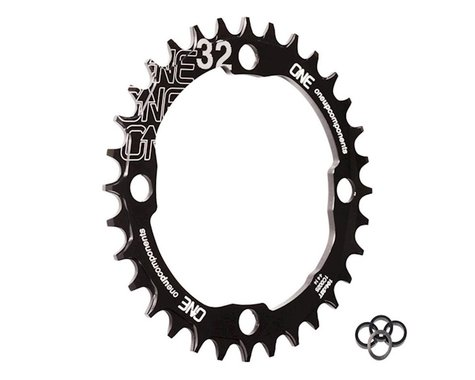 OneUp Components Round Chainring (Black) (104mm BCD) (Offset N/A) (32T)