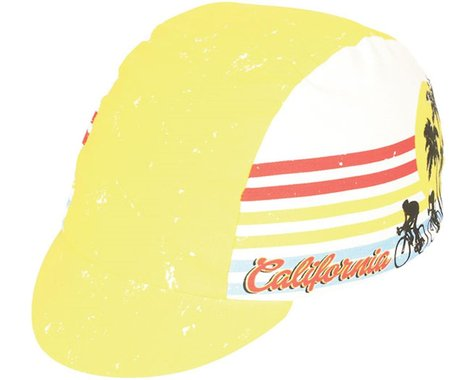 Pace Sportswear Cali Dreamin' Cycling Cap (Yellow) (One Size Fits Most)