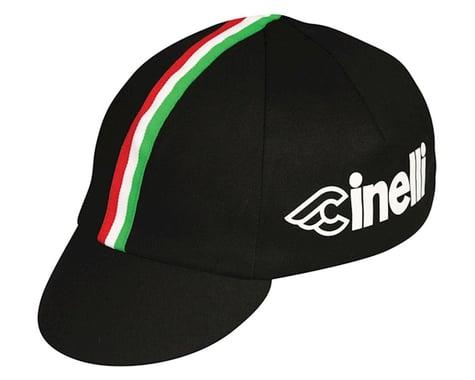 Pace Sportswear Cinelli Cycling Cap (Black/Italian Stripe) (One Size Fits Most)