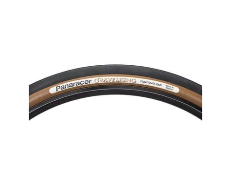 Panaracer Gravelking Slick Tubeless Gravel Tire (Black/Brown) (42mm) (650b / 584 ISO)