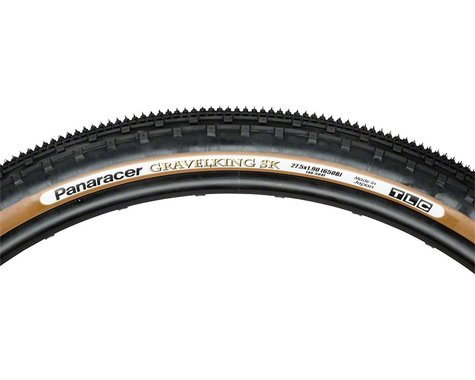 Panaracer Gravelking SK Tubeless Gravel Tire (Black/Brown) (48mm) (650b / 584 ISO)
