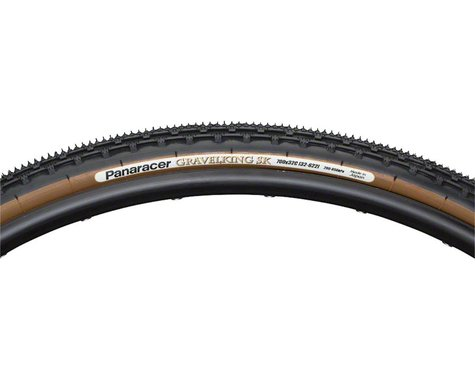 Panaracer Gravelking SK Tubeless Gravel Tire (Black/Brown) (38mm) (700c / 622 ISO)