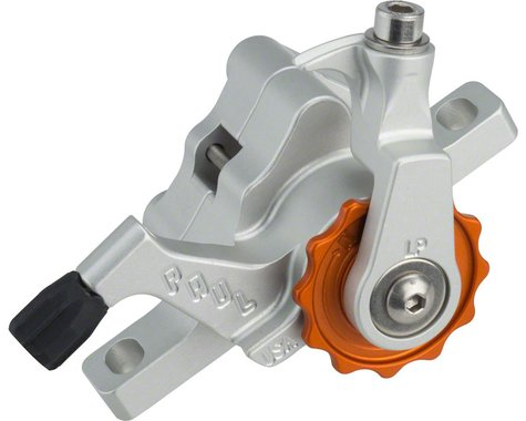 Paul Components Klamper Disc Brake Caliper (Silver/Orange) (Mechanical) (Front or Rear) (Long Pull)