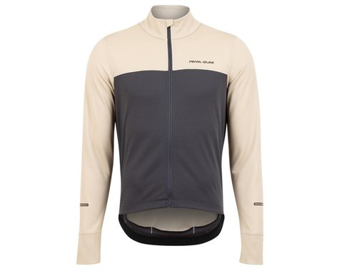 Pearl Izumi Quest Thermal Long Sleeve Jersey (Stone/Dark Ink) (S)