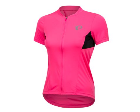 Pearl Izumi Women's Select Pursuit Short Sleeve Jersey (Screaming Pink/Black)