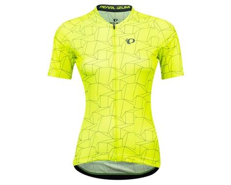 Pearl Izumi Women's Attack Short Sleeve Jersey (Screaming Yellow/Turbulence Origami)