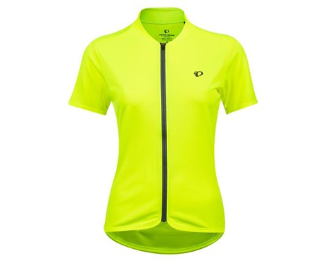 Pearl Izumi Women's Quest Short Sleeve Jersey (Screaming Yellow/Turbulence) (S)