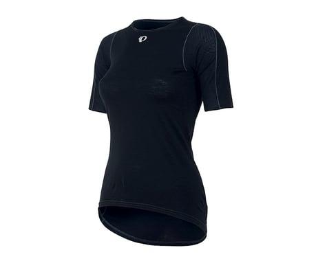 Pearl Izumi Women's Transfer Short Sleeve Wool Base Layer (Black) (XL)