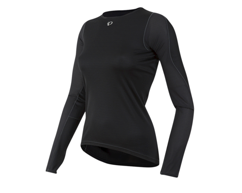 Pearl Izumi Women's Transfer Long Sleeve Base Layer (Black)