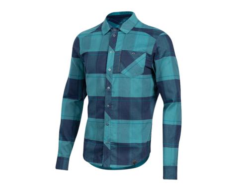 Pearl Izumi Rove Long Sleeve Shirt (Navy/Hydro Plaid)