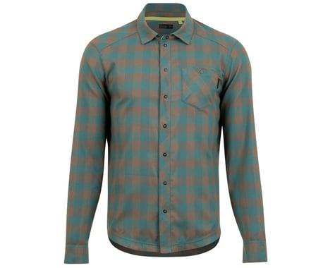 Pearl Izumi Rove Long Sleeve Shirt (Silt/Spruce Plaid) (S)