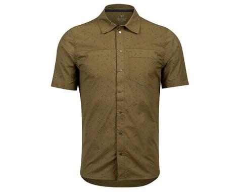 Pearl Izumi Men's Rove Short Sleeve Shirt (Dark Olive Forks) (XL)