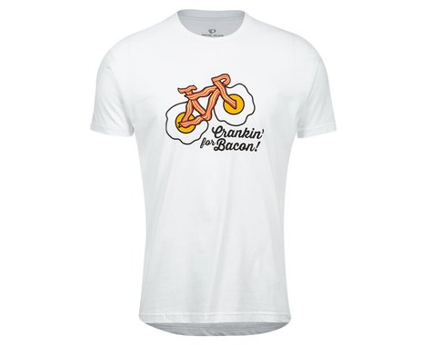 Pearl Izumi Go-To Tee Shirt (White Crankin Bacon) (M)