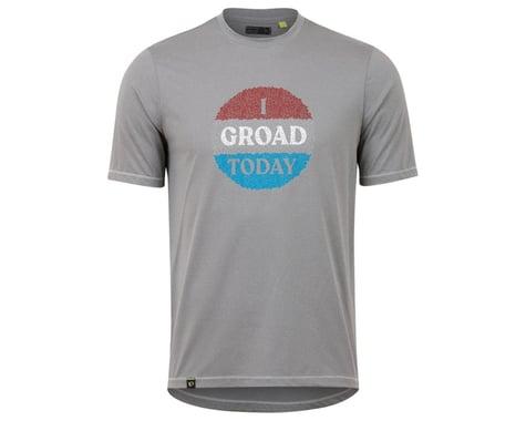 Pearl Izumi Men's Midland T-Shirt (Frostgrey/Red Groad) (L)