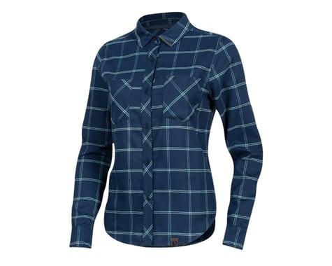 Pearl Izumi Women's Rove Long Sleeve Shirt (Navy/Aquifer Plaid) (L)
