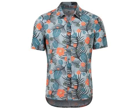 Pearl Izumi Summit Button Up Shirt (Dawn Grey/Sunset Palm) (L)