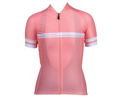 Pedal Mafia Women's Core Short Sleeve Jersey (Coral Peach) (S)