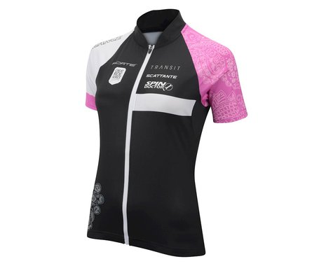 Performance Women's Elite Team Short Sleeve Jersey - 2017 (Black/Pink)