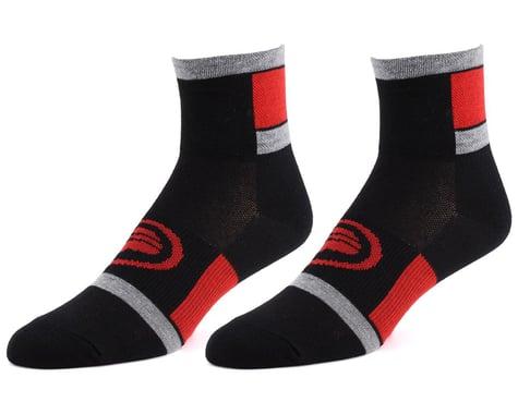 "Performance 3"" Speed Socks (Black/Red) (S/M)"