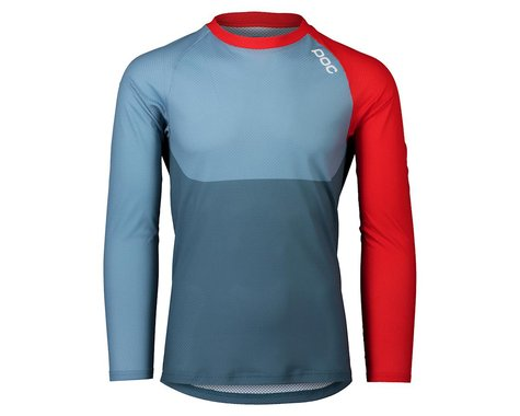 POC Pure Long Sleeve Mountain Jersey (Calcite Blue/Prismane Red)