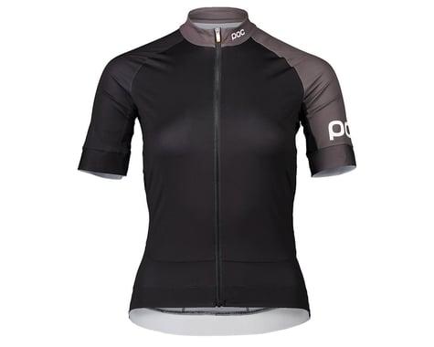 POC Women's Essential Road Short Sleeve Jersey (Uranium Black/Sylvanite Grey) (XS)