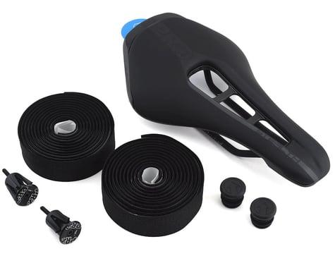 Pro Stealth Dark Edition Saddle Combipack w/ Tape & Alloy Endplugs (Black) (Steel Rails) (142mm)