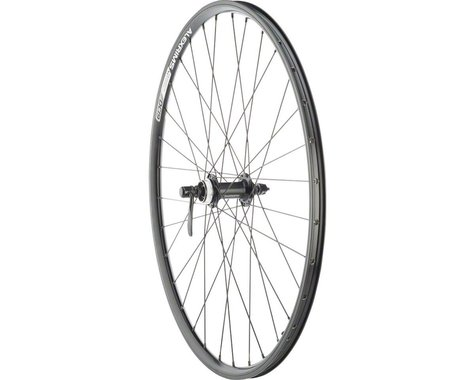 """Quality Wheels Value Double Wall Series Rim/Disc Front Wheel (Black) (QR x 100mm) (26"""" / 559 ISO)"""