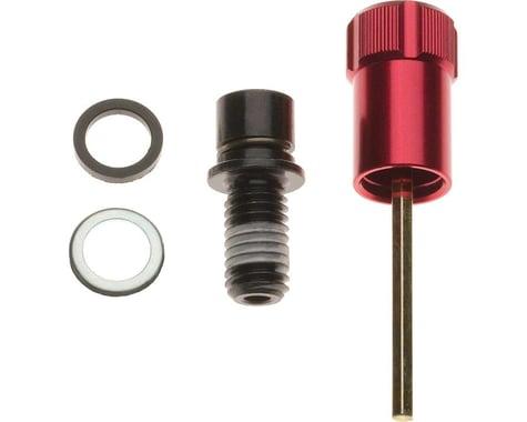 RockShox Rebound Adjuster Knob/Bolt Kit (Red) (Aluminum) (Short)