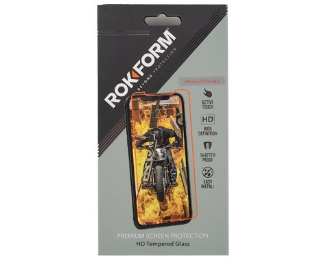 Rokform Tempered Glass iPhone Screen Protector (Clear) (1 Pack) (iPhone 11 Pro/XS/X)