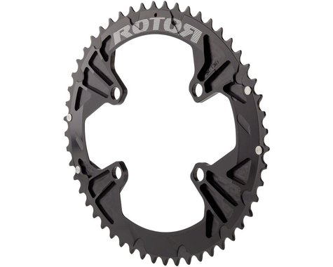 Rotor Q-Ring 110 x 4 Asymmetric BCD Oval Chainring: 52t outer for use with 36t i
