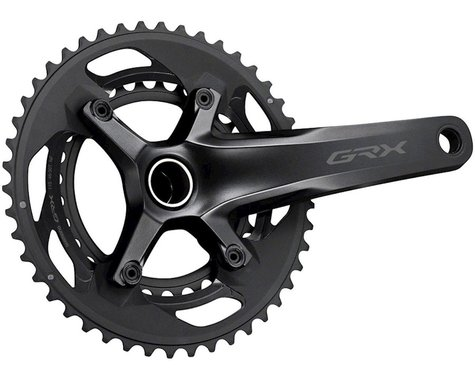 Shimano GRX FC-RX600 Crankset (Black) (2 x 10 Speed) (Hollowtech II) (172.5mm) (46/30T)
