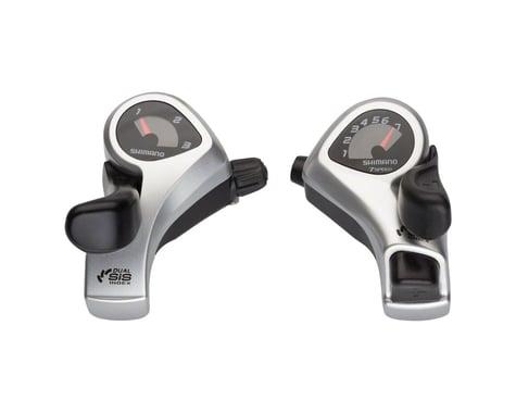 Shimano Tourney SL-TX50 Thumb Shifters (Silver) (Pair) (3 x 7 Speed)
