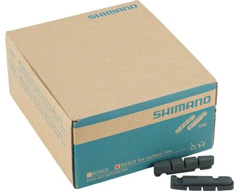 Shimano R55C4 Dura-Ace/Ultegra Carbon Rim Brake Pad Inserts (Black) (50 Pairs)