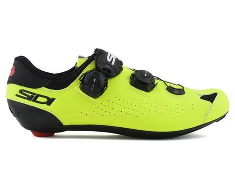 Sidi Genius 10 Road Shoes (Black/Flo Yellow) (46)