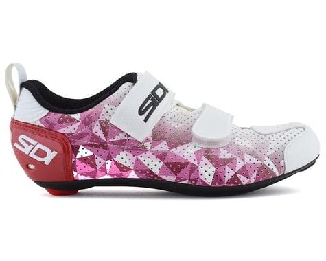 Sidi T-5 Air Women's Tri Shoe (Rose/Red/White) (42)