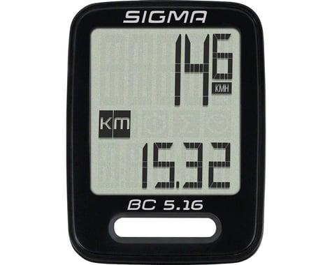 Sigma BC 5.16 Bike Computer (Black) (Wired)