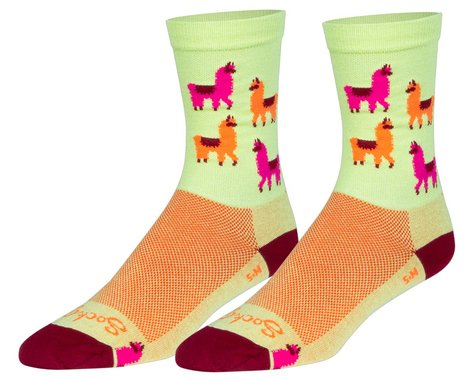 """Sockguy 6"""" Socks (Mo' Llamas) (L/XL)"""